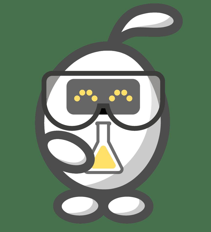 Scientist ELAS, mascotte of ASReview